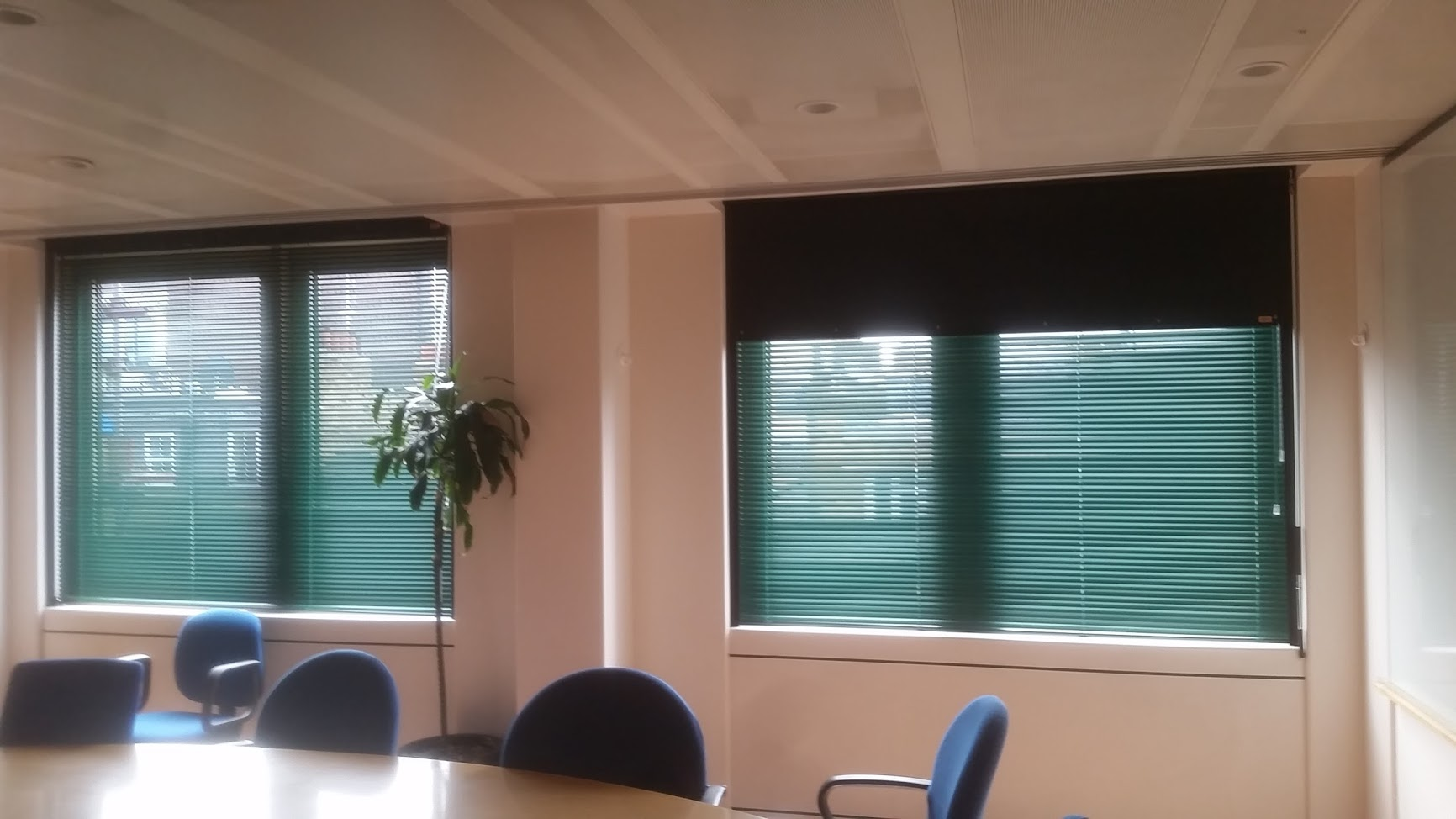 Aluminium Venetian And Blackout Box Blinds For Meeting