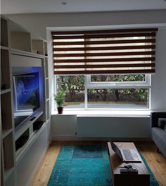 Vision blinds installed in modern living room Blinds London