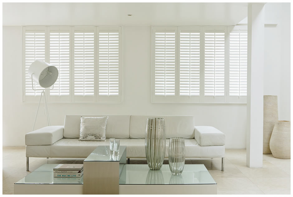 White shutters - Installation in London